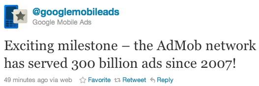 AdMob 300 milyar reklam barajını geride bıraktı