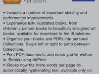 iPad ve iPhone'a özel iBooks'un yeni sürümü 1.2.1 ile kitapları daha hızlı indirin ve okuyun
