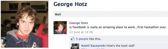 """George """"Geohot"""" Hotz Facebook'ta çalışmaya başladı"""