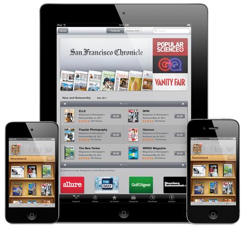 Adobe'nin dijital yayınlama paketi iOS 5'in Newsstand uygulamasını da destekleyecek