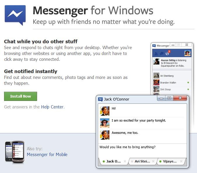 Windows için Facebook Messenger resmileşti, Mac versiyonu yolda