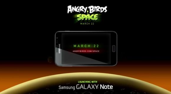 Angry Birds Space oyunu çıkışını Samsung Galaxy Note ile yapacak – Video