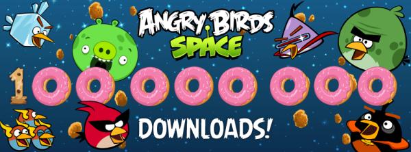 Angry Birds Space'in indirilme sayısı 100 milyonu aştı