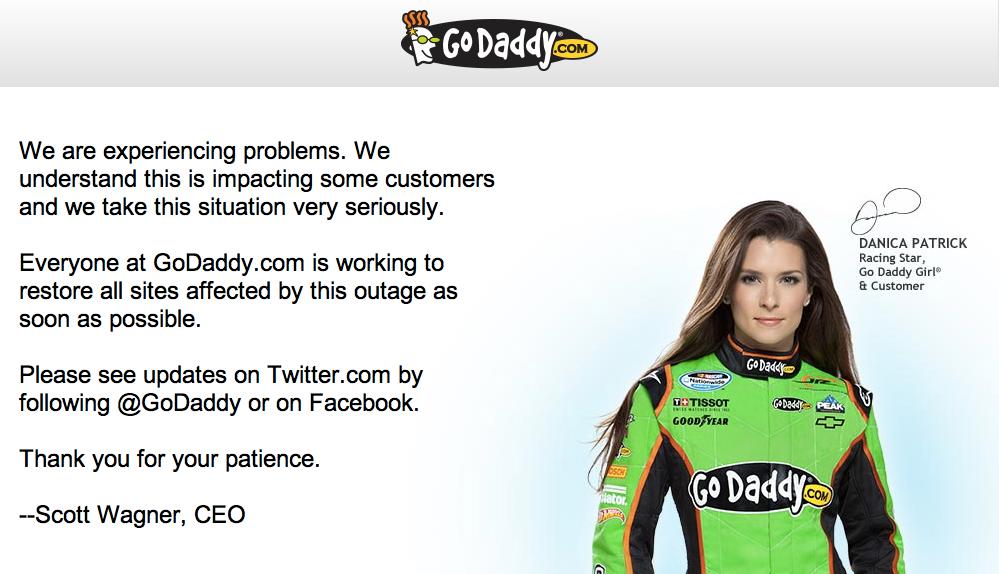 GoDaddy ve servis verdiği web siteleri Anonymous saldırısı nedeniyle çöktü (güncellendi)