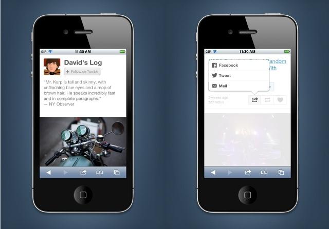 Tumblr mobil sitesini yeniden tasarladı