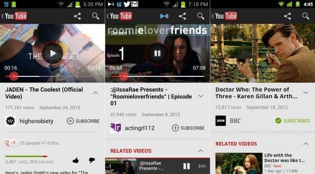 YouTube'un güncellenen Android uygulaması ile Froyo ve Gingerbread'e önden yükleme desteği geldi