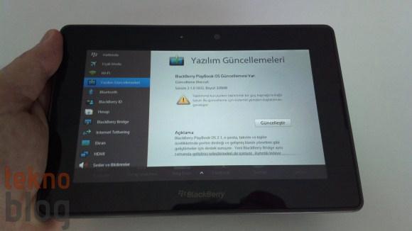 BlackBerry PlayBook BlackBerry 10 güncellemesi alamayacak