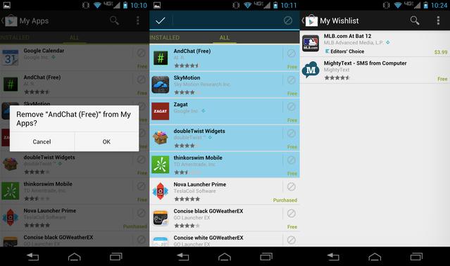 Google Play Store 3.9.16 güncellemesi Uygulamalarım listesini kolayca boşaltmayı sağlıyor