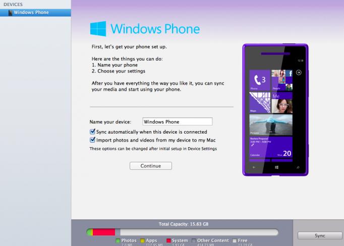 Microsoft Mac için Windows Phone eş zamanlama uygulamasını güncelledi