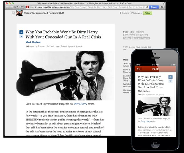 Quora'da kullanıcı bloglarıyla birlikte soru ve cevaplardan daha fazlası bulunacak