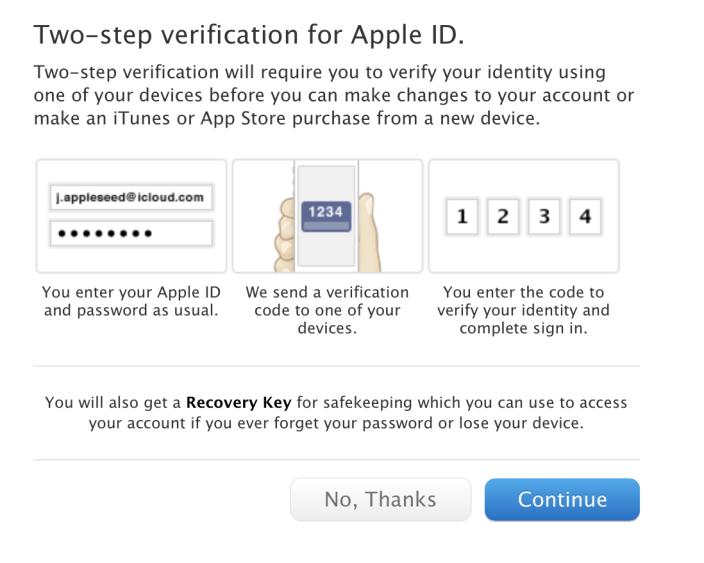 Apple kimlikleri ve iCloud hesapları için çift aşamalı doğrulama sistemini hayata geçiriyor
