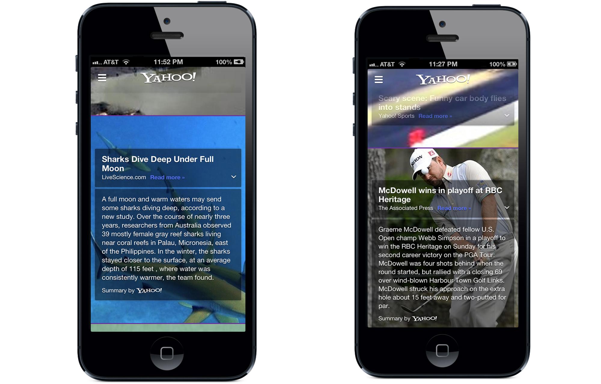 Yahoo iPhone uygulamasına Summly'yi entegre etti