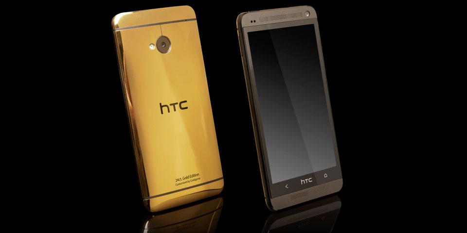 HTC One'ın altın ve platin kaplı versiyonları ortaya çıktı