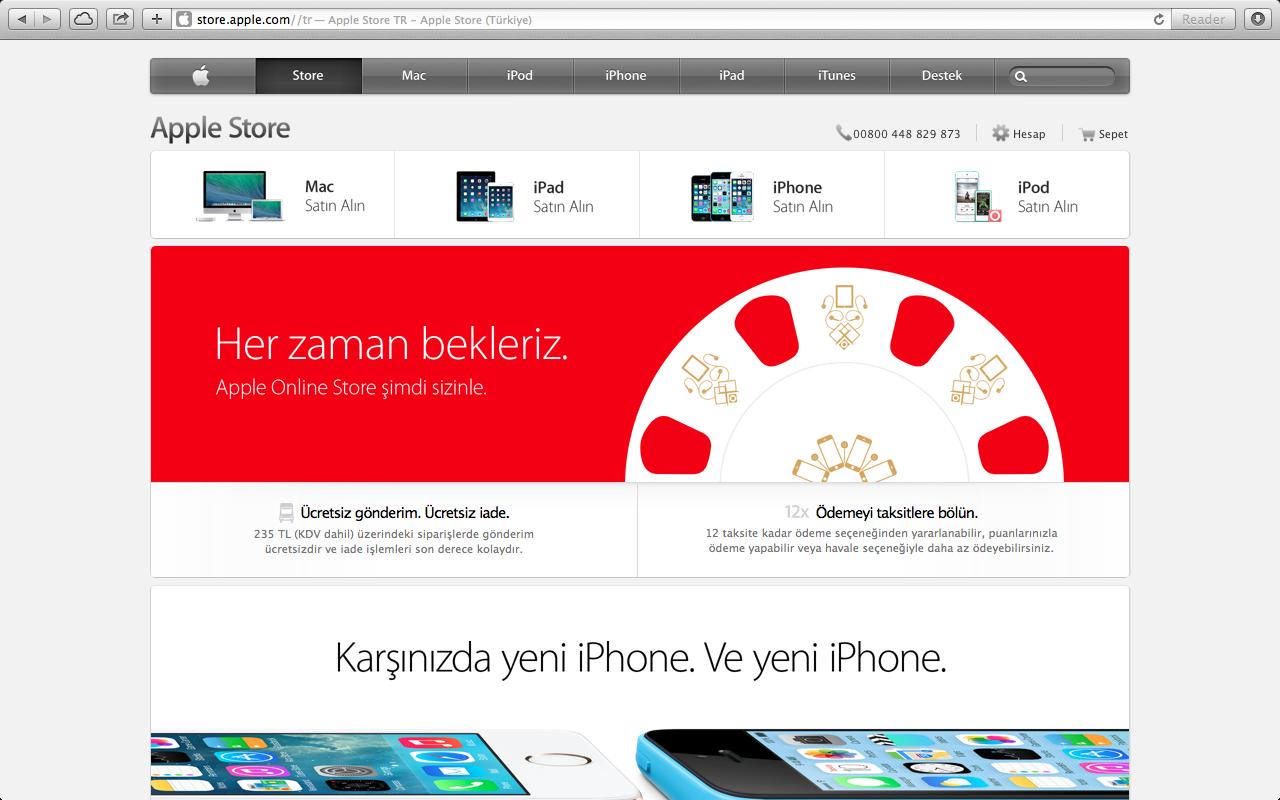 Apple Store çevrim içi mağaza Türkiye'ye açıldı