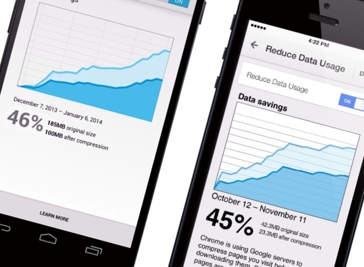 Chrome mobil tarayıcının yeni sürümü veri sıkıştırma, çeviri ve kısayol özellikleriyle geliyor