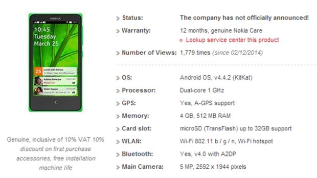 Nokia X A110 Android telefonuyla ilgili yeni detaylar sızdı