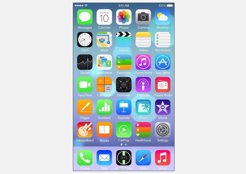 Sızan ekran görüntüsü daha büyük ekranlı iPhone'un ekranının hayli yoğun olacağını işaret ediyor.
