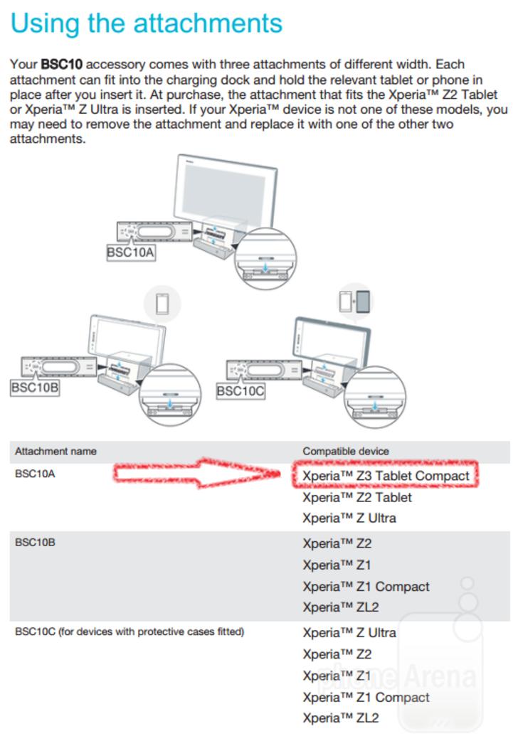 Sony Xperia Z3 Tablet Compact resmi Sony belgeleriyle ortaya c?kt?