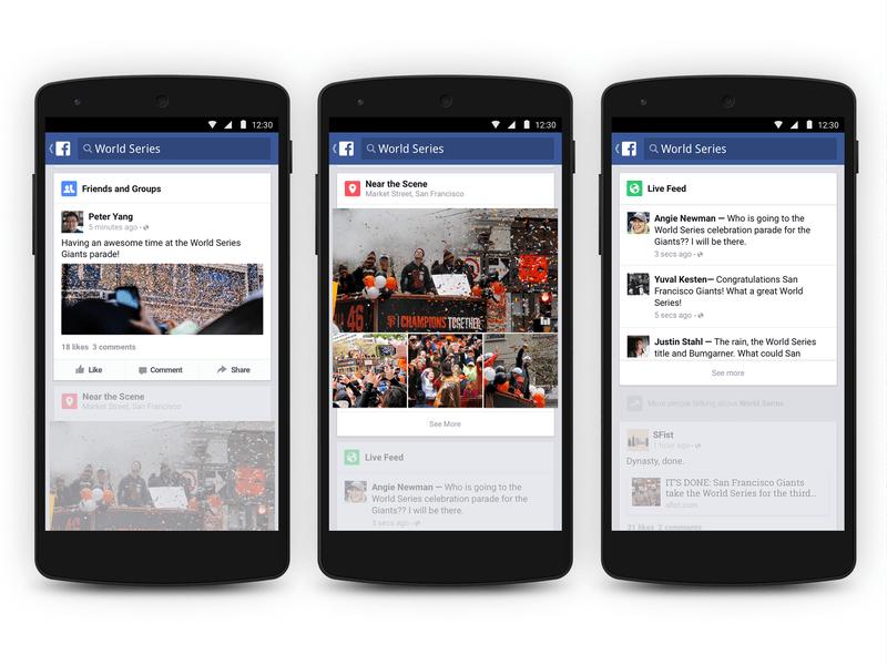 Facebook Android uygulaması artık popüler konuları gösterecek