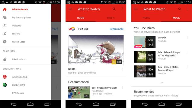 YouTube Android uygulaması için Material Design getiren güncelleme çıktı