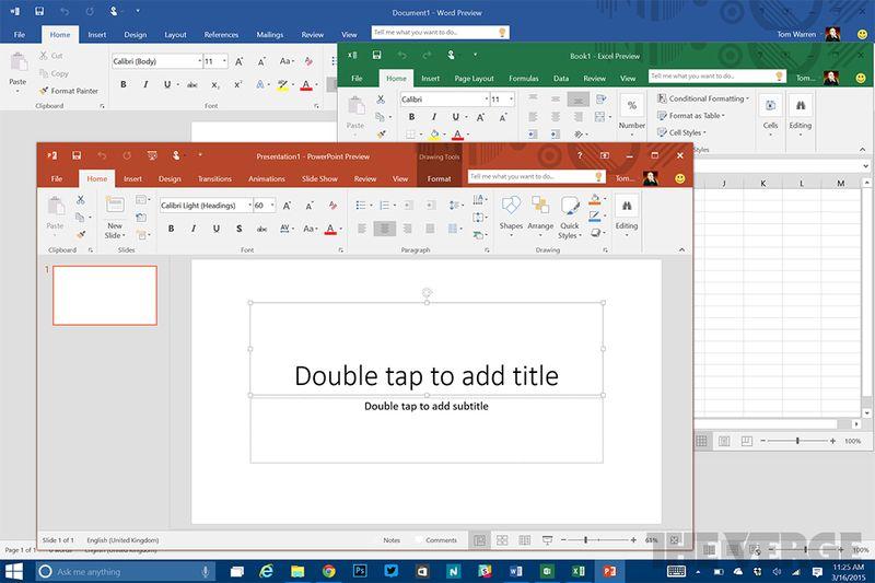 Microsoft Office 2016 yeni bir renkli temayla birlikte geliyor