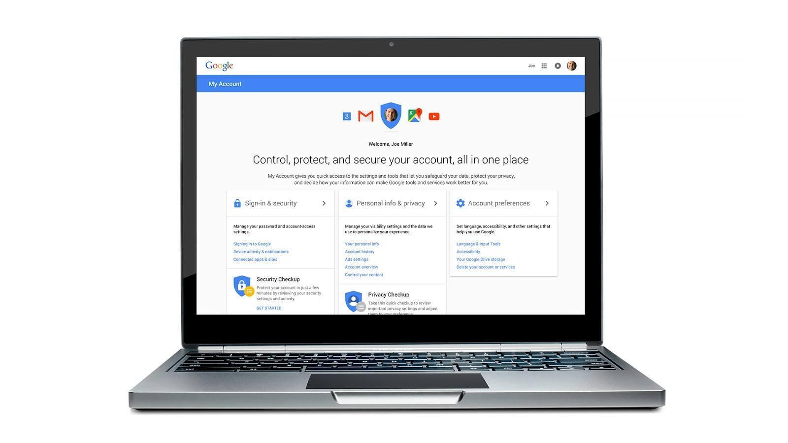 Google Hesabım ile gizlilik ve güvenlik ayarları için tek bir merkez