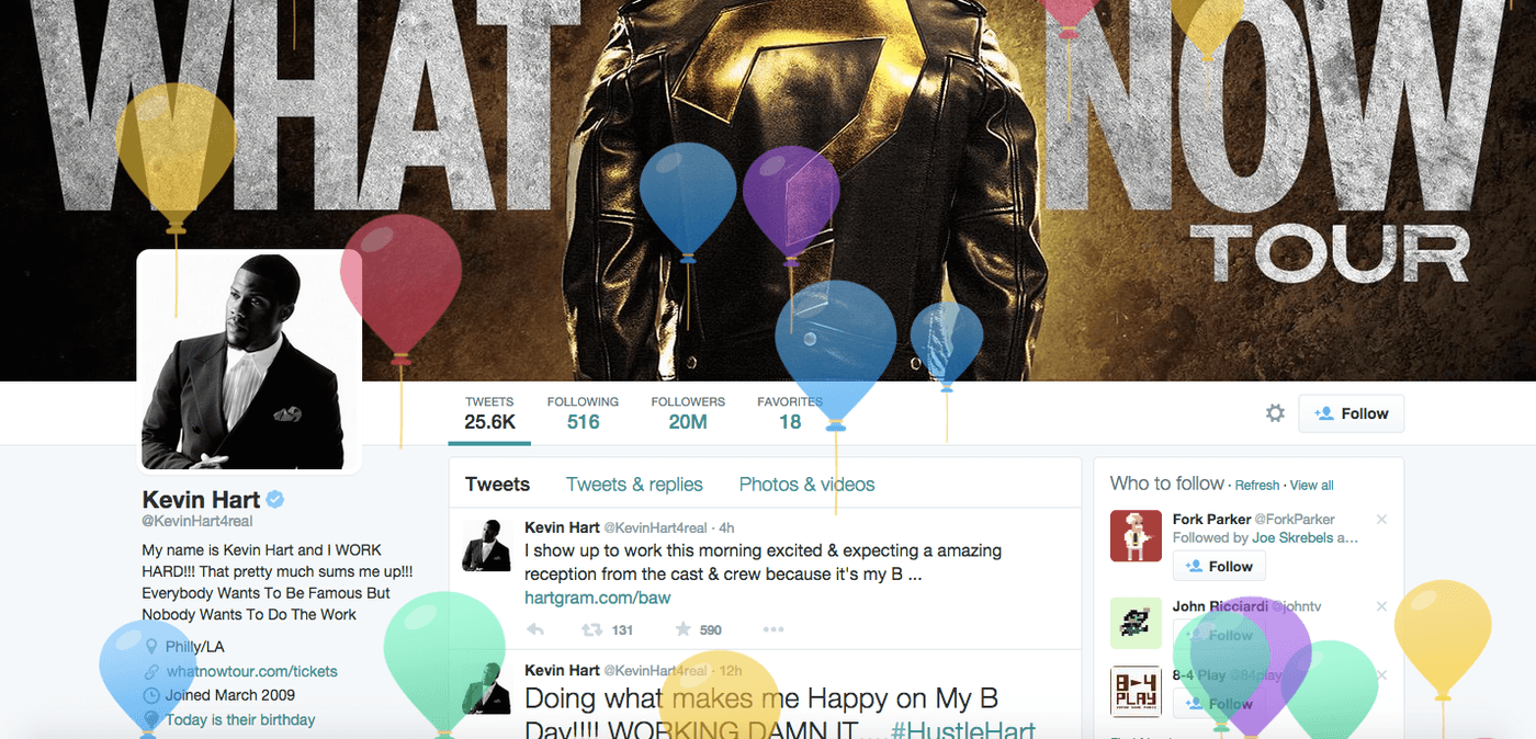 Twitter profilinize doğum tarihinizi ekleyebilirsiniz