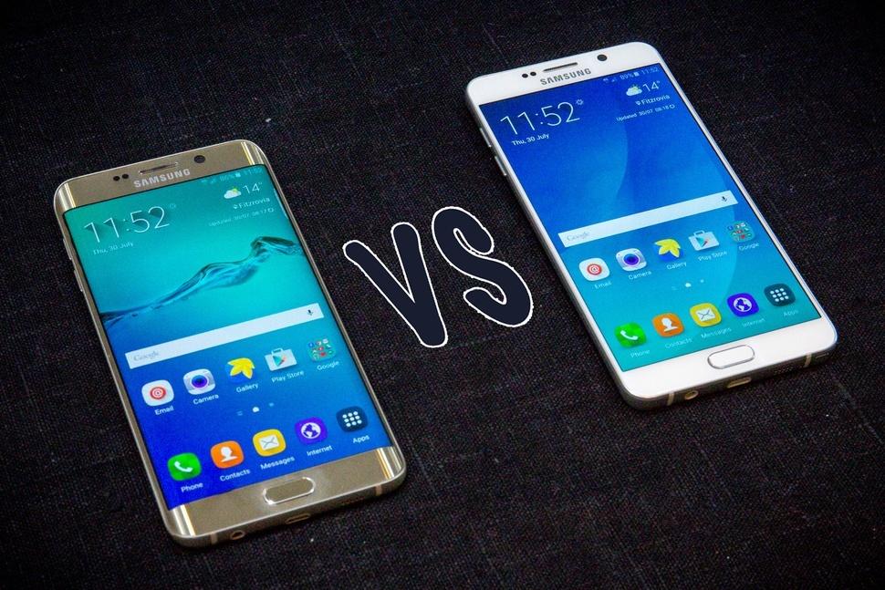 Samsung Galaxy S6 edge+ ve Samsung Galaxy Note 5 karşı karşıya