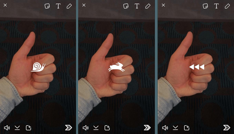 Snapchat videoları filtrelerle hızlandırılabilecek, yavaşlatılabilecek ve geri sarılabilecek