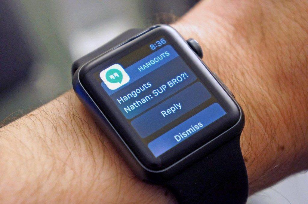 Google Hangouts iOS Apple Watch