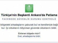 Facebook Güvenlik Durumu Kontrolü Ankara saldırısının ardından aktif hâle geldi
