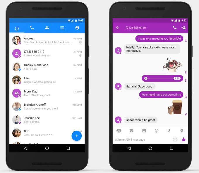 Facebook Messenger Android uygulamasıyla SMS alınıp gönderilecek