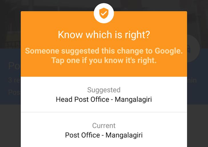 google haritalar bilgi dogrulama