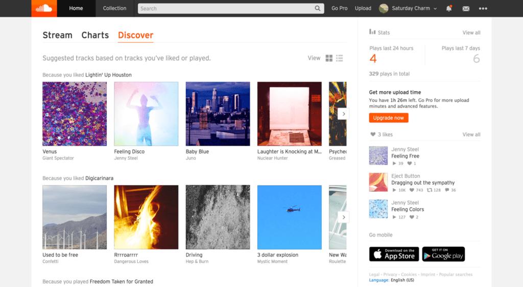 SoundCloud müzik zevkleri doğrultusunda yeni şarkılar önerecek