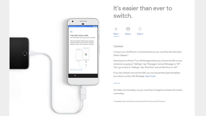 google pixel iphone