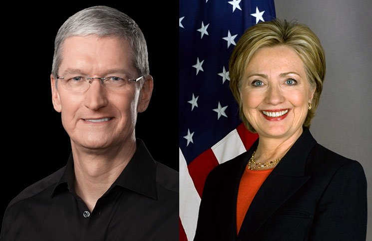 hillary clinton tim cook