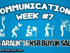 Communications Week #7 5-8 Aralık tarihleri arasında İTÜ'de düzenleniyor
