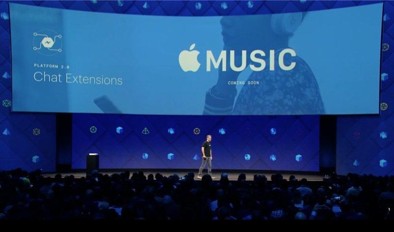 facebook messenger apple music