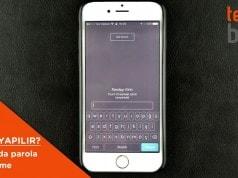 iphone parola değiştirme