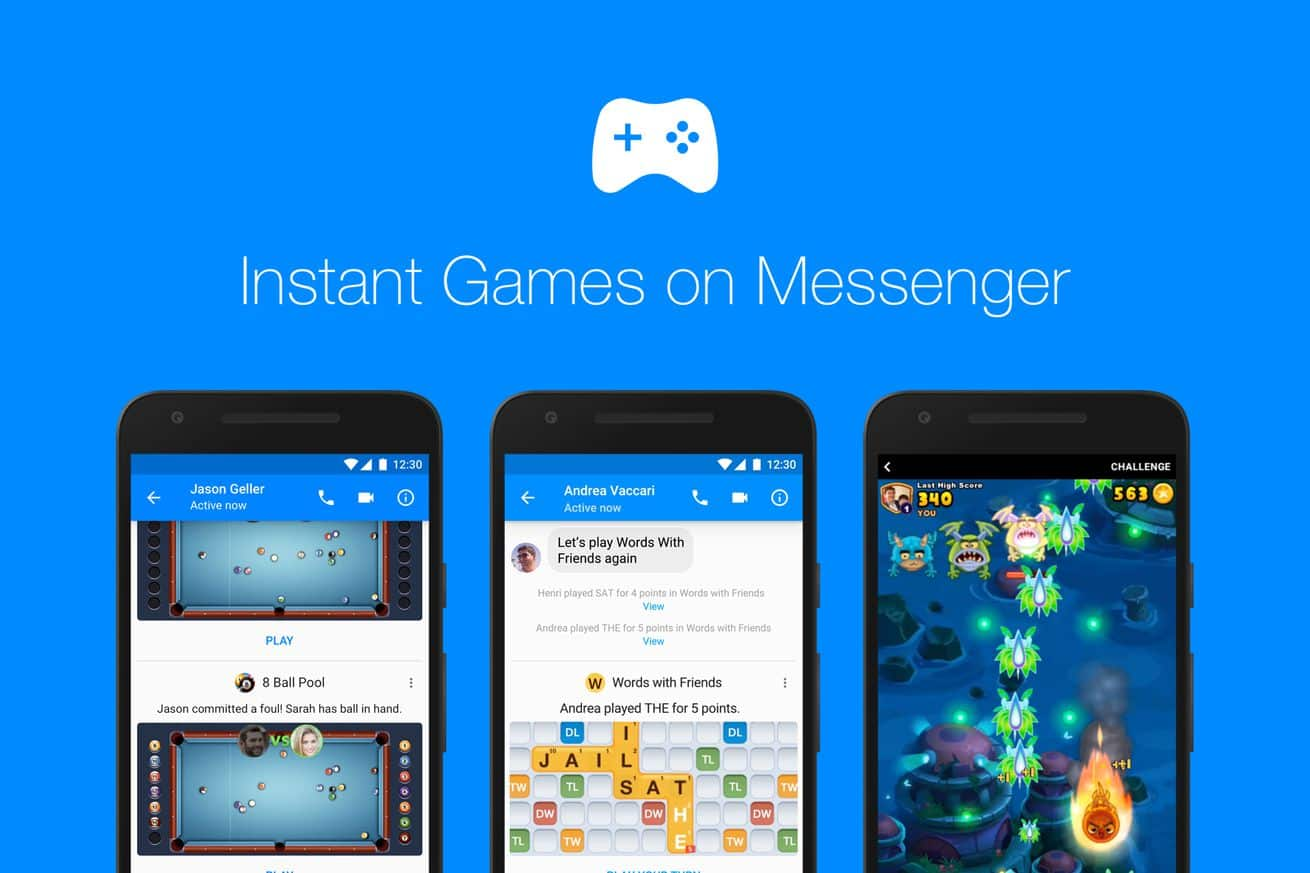 facebook messenger oyun