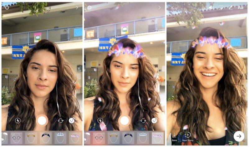 instagram yüz filtreleri