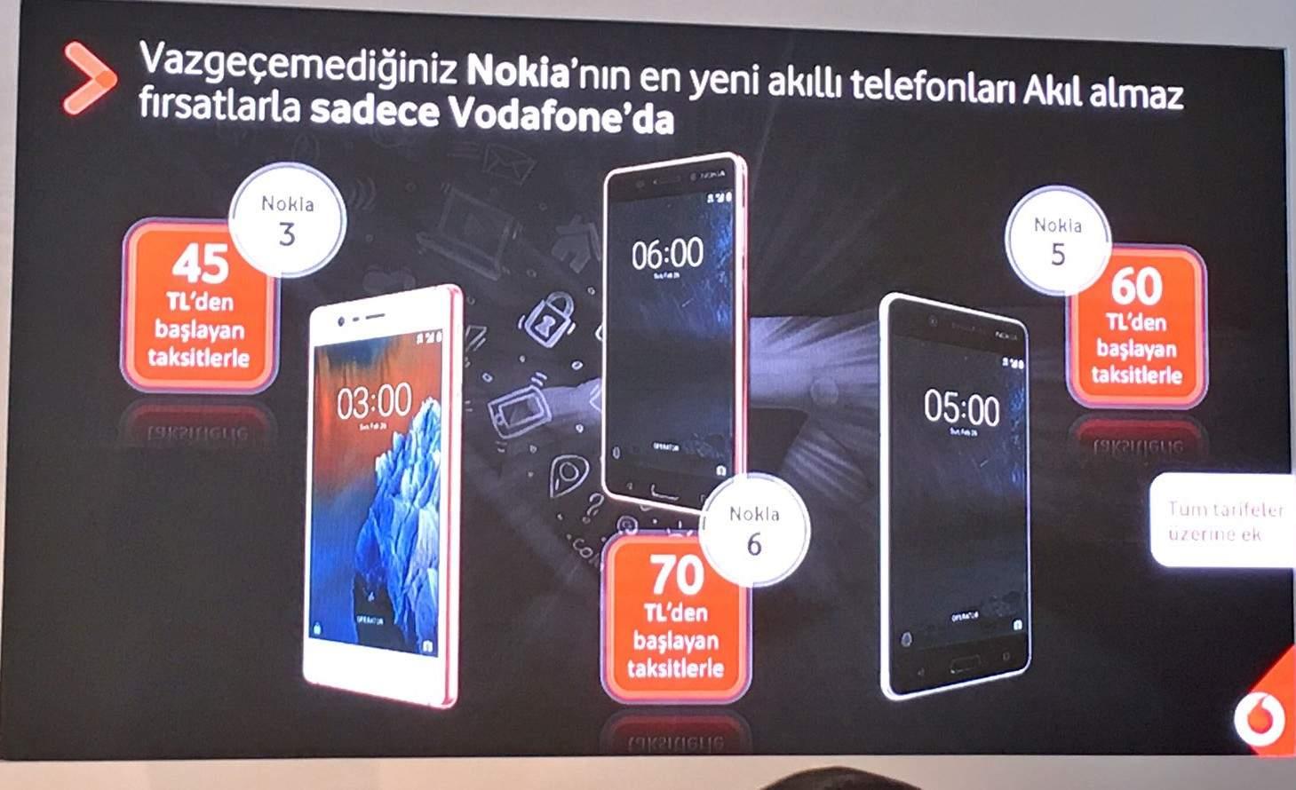 Nokia akıllı telefonlar 3 ay boyunca sadece Vodafone'da satılacak