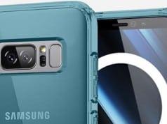Galaxy Note 8 kılıfı parmak izi tarayıcısının arkada olacağını gösteriyor