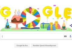 Google 19. yaşını doğum günü çarkıfeleği ile kutluyor