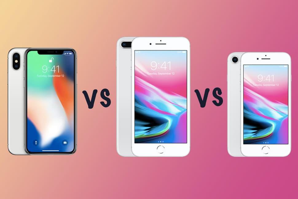 iphone x vs iphone 8 plus vs iphone 8