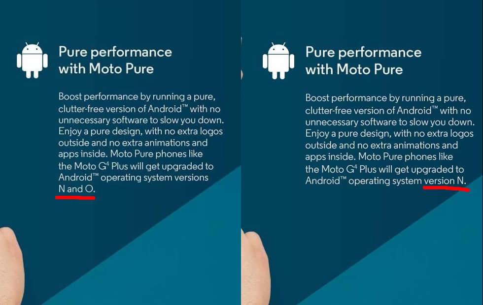 moto g4 android oreo