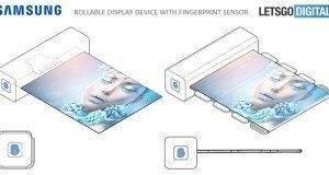 Samsung parmak izi tarayıcısı destekli yuvarlanabilir ekran üzerine çalışıyor