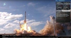SpaceX güçlü Falcon Heavy roketinin ilk fırlatma işlemini gerçekleştirdi