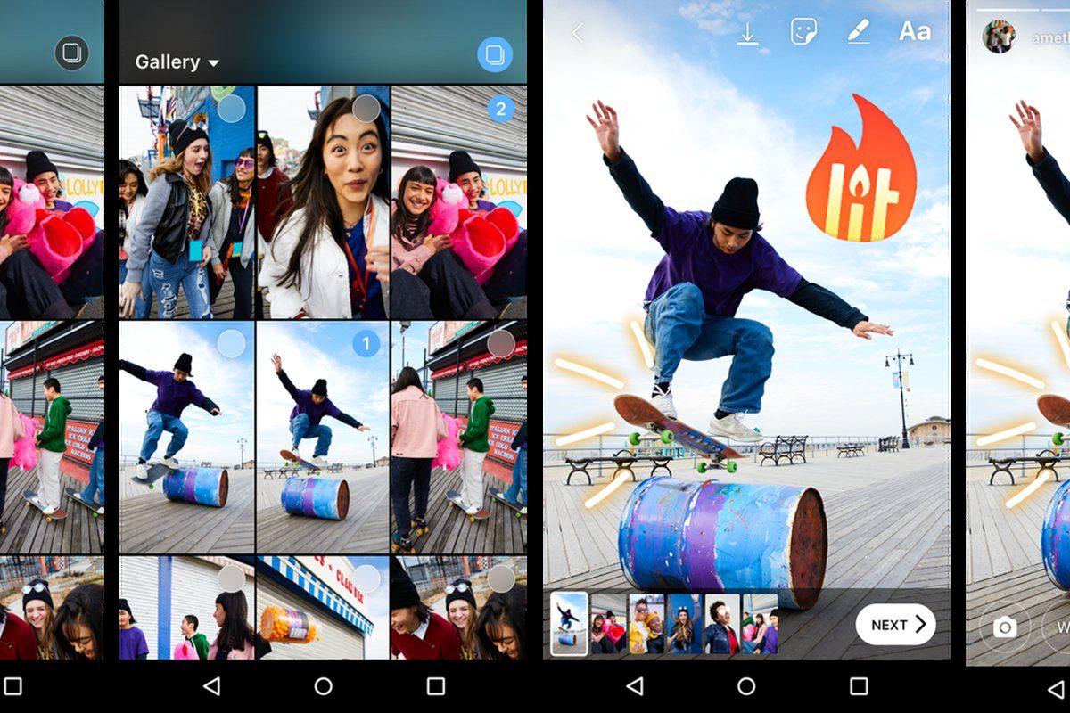 instagram android toplu hikaye paylaşımı