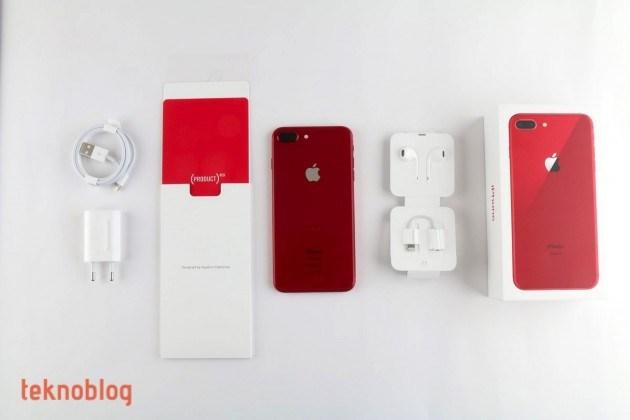 kırmızı iphone 8 plus